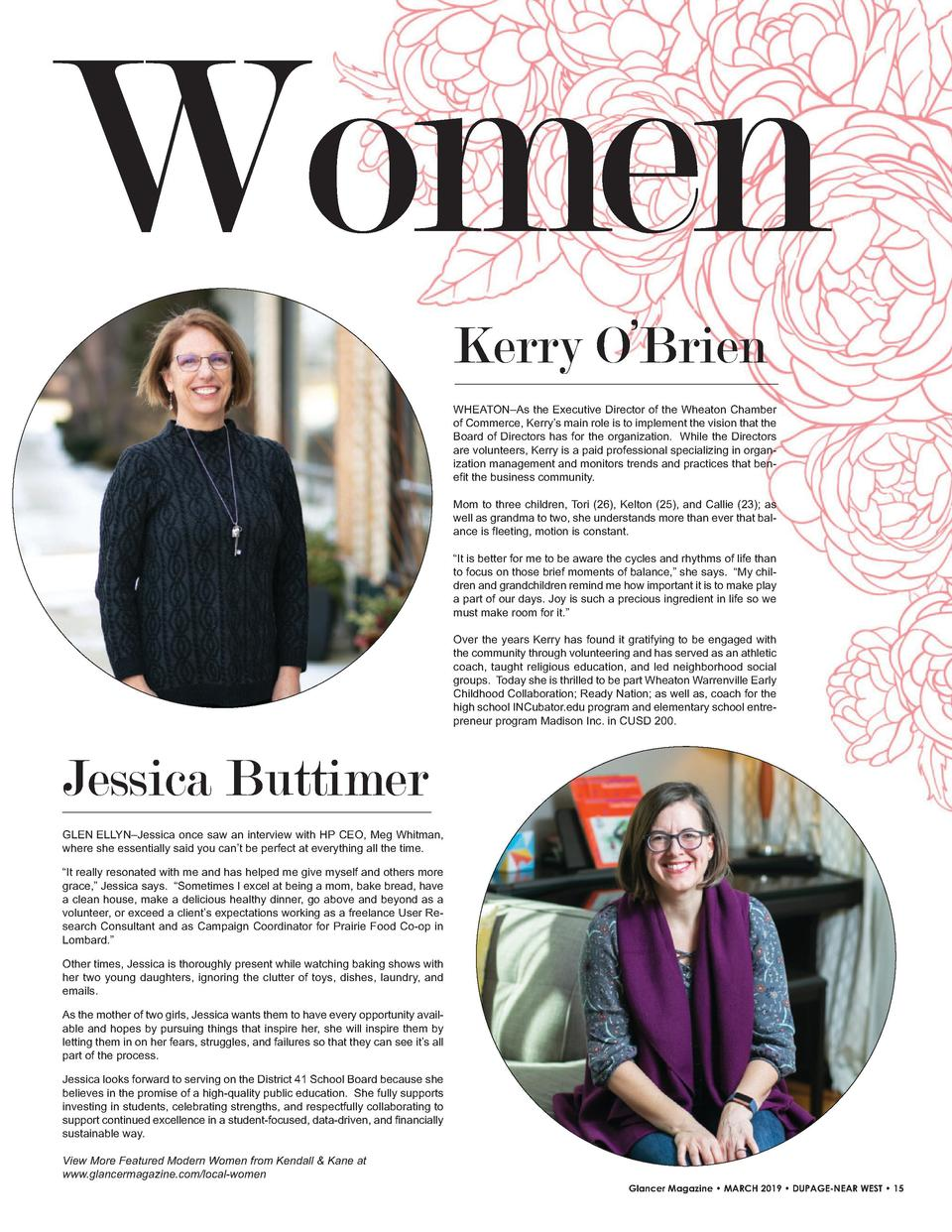 Women Kerry O   Brien WHEATON   As the Executive Director of the Wheaton Chamber of Commerce, Kerry   s main role is to im...
