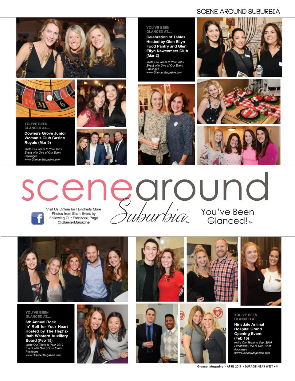 SCENE AROUND SUBURBIA  Celebration of Tables, Hosted by Glen Ellyn Food Pantry and Glen Ellyn Newcomers Club  Mar 2  Invit...