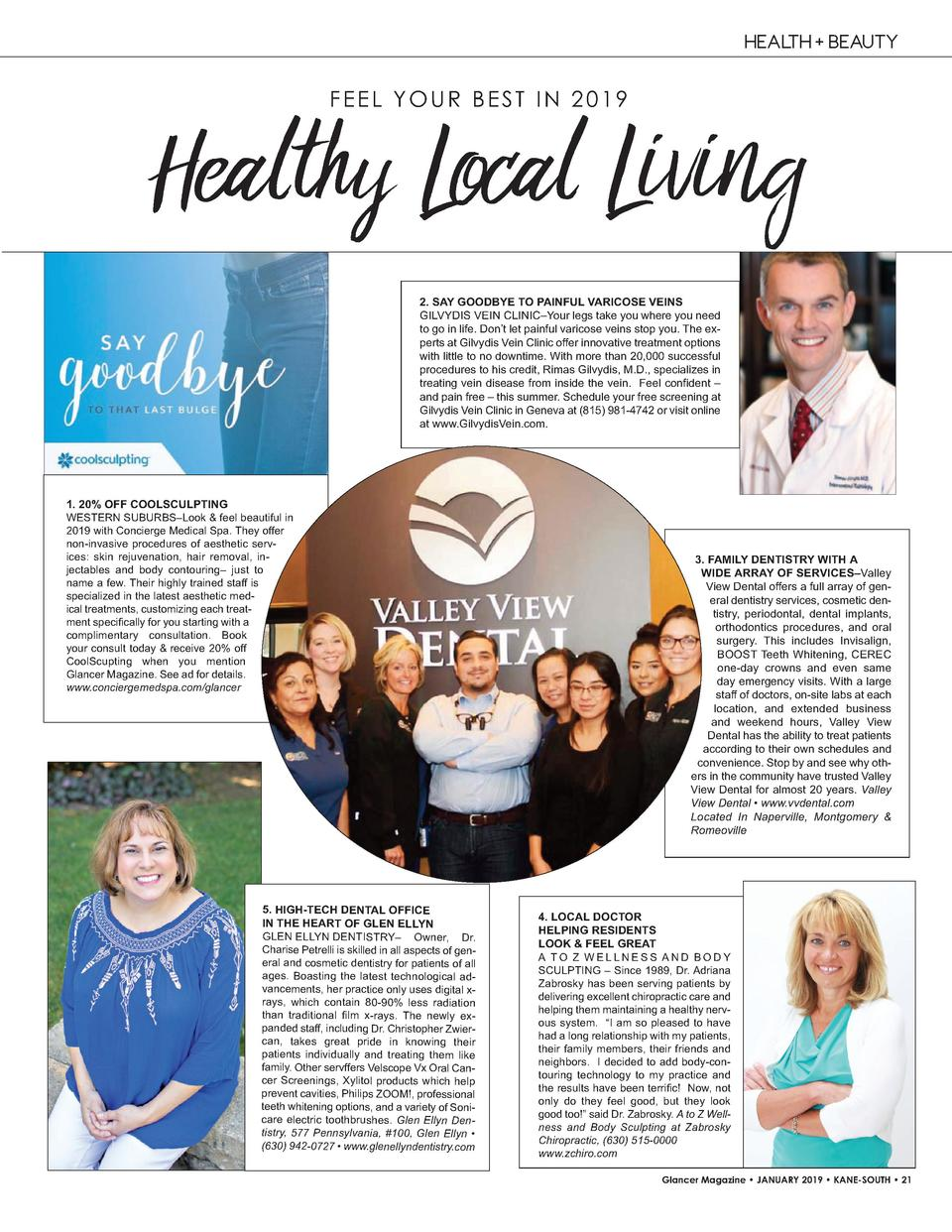 HEALTH   BEAUTY  FEEL YOUR BEST IN 2019  Healthy Local Living 2. SAY GOODBYE TO PAINFUL VARICOSE VEINS GILVYDIS   VEIN   C...